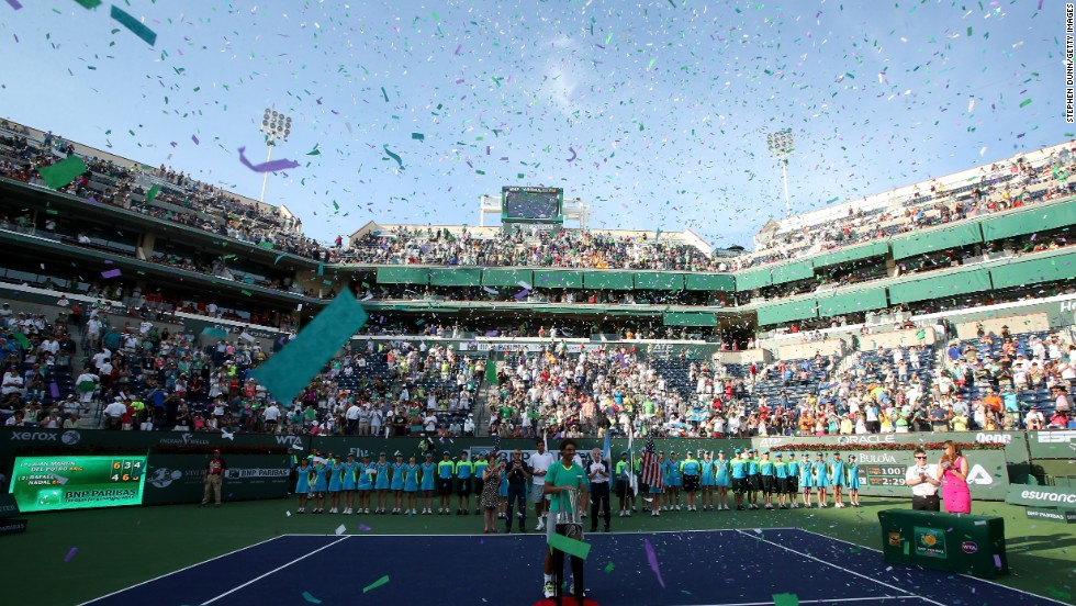 """The trophies continued in 2013 as Nadal followed up his Brazil success by winning in Mexico and then at Indian Wells too. His third final clash with an Argentinian resulted in victory over Juan Martin del Potro as Nadal became the player with the most Masters 1000 wins in history. """"Seriously, it's impossible to have a better comeback, no?"""" he said."""