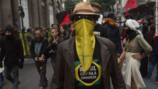 Brazil has witnessed a number of anti-government demonstrations this year.