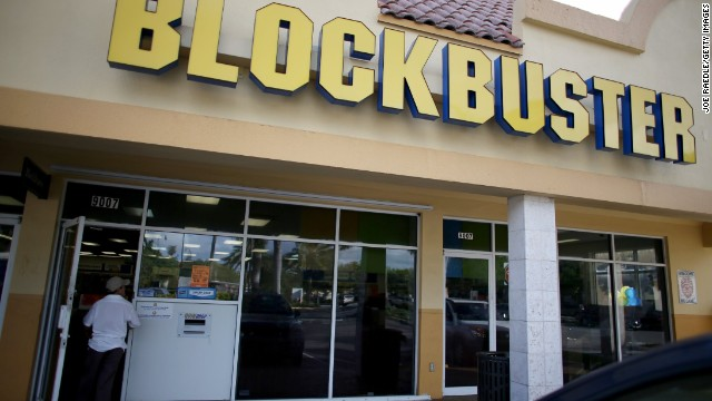 A Blockbuster video store on Wednesday in Miami, Florida. Blockbuster says it will close its 300 remaining U.S. stores by early January.