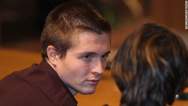 Raffaele Sollecito waits in Perugia's Court of Appeal before hearing that he won his appeal against his murder conviction on October 3, 2011 in Perugia, Italy.