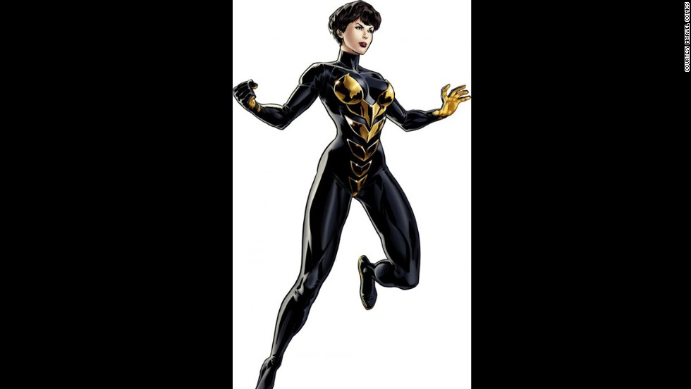 Janet Van Dyne, Wasp, made her first appearance in Marvel comics in 1963.