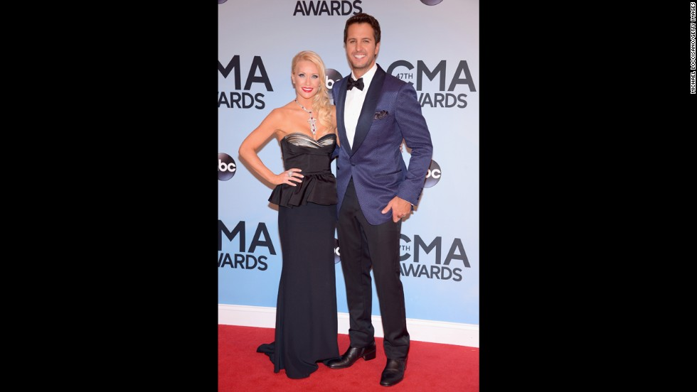 Luke Bryan and his wife, Caroline Boyer
