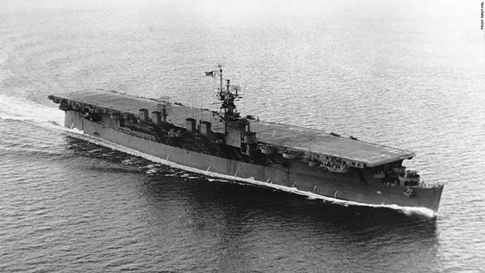 The USS Princeton, part of the Independence class, moves off the coast of Seattle in 1944.