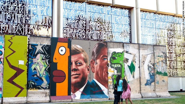 Los Angeles is home to the longest section of Berlin Wall in the United States.