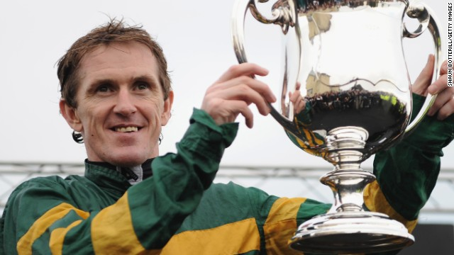 Tony 'AP' McCoy received a special trophy to mark his feat of reaching 4,000 winners in steeplechase racing.