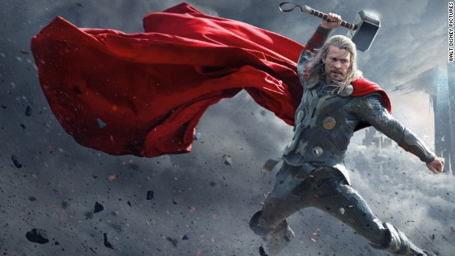 "Chris Hemsworth stars as the Norse god Thor in the sequel ""Thor: The Dark World."""