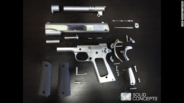 Metal gun made with 3-D printer