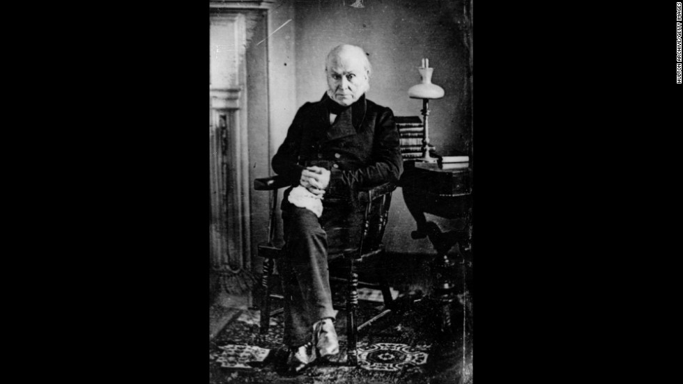 John Quincy Adams is pictured.