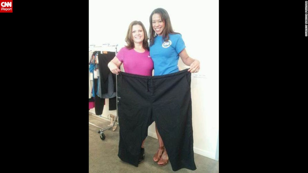 Privitera used to wear a size 28 pants and had to have panels or elastic put in so they would fit her. She now wears a size 10.