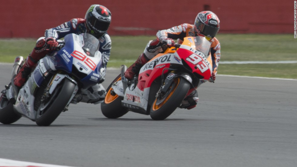 Marquez had won the previous four races before the British GP in September and was almost out of sight in the world championship standings. But reigning world champion Jorge Lorenzo reignited his title challenge with a stunning win over his young compatriot at Silverstone.
