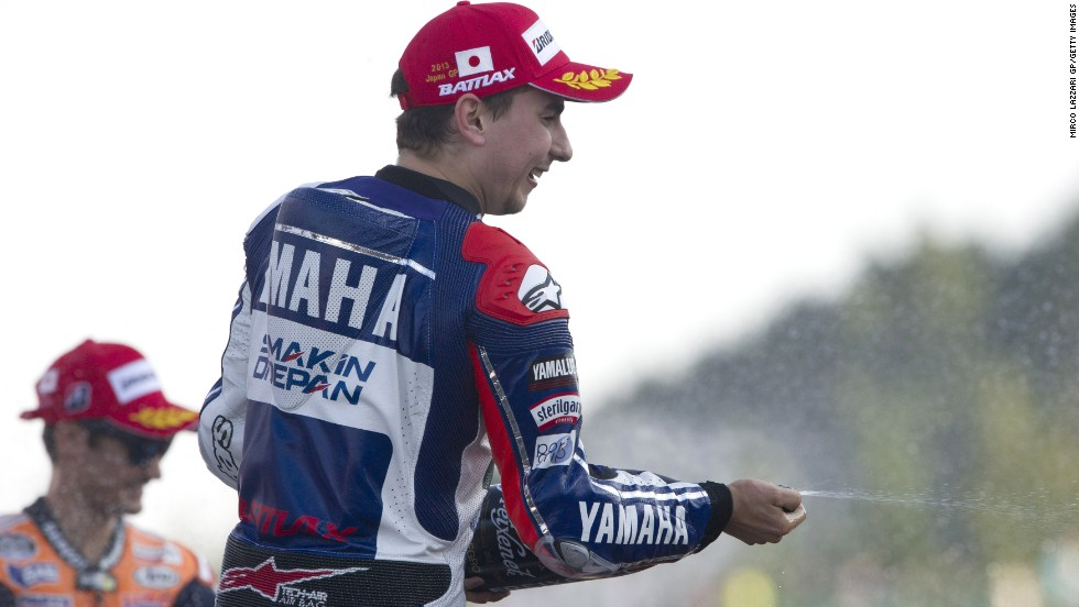 Jorge Lorenzo secures a seventh win of the season in the penultimate race of the season at the Motegi Circuit in Japan.