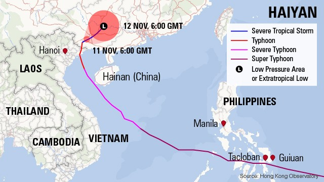 Typhoon's path