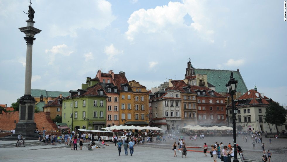 More than 85% of Warsaw's historic center was destroyed by Nazi troops during the Warsaw uprising in August 1944. The meticulous restoration took from the end of the war in 1945 to 1966.