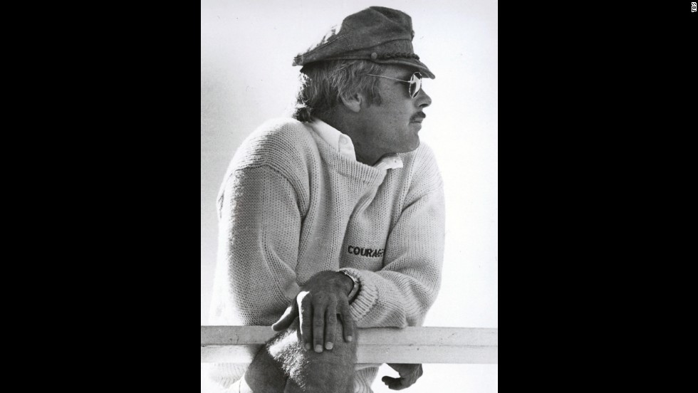 "Turner won the America's Cup, a prestigious sailing competition, in 1977. His racing yacht was named ""Courageous,"" emblazoned on his sweater."