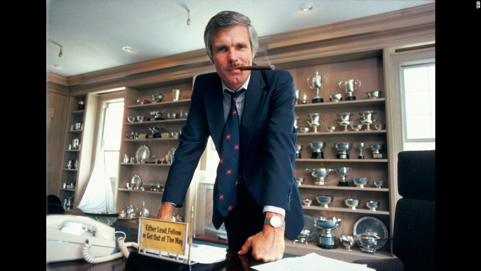 Turner at his desk in 1985.