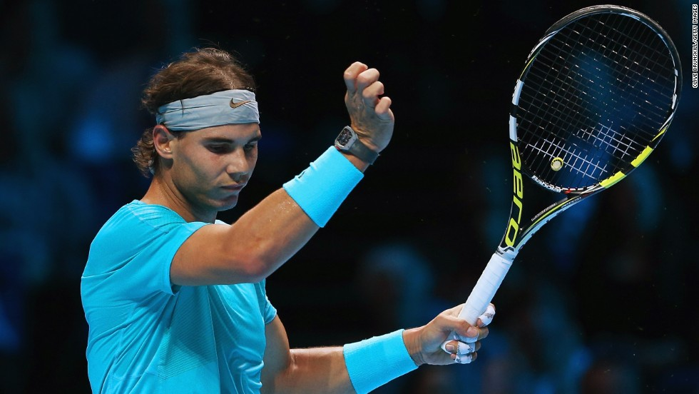 Nadal's play was littered with unforced errors as Djokovic turned up the heat in the final of the end of season showpiece.