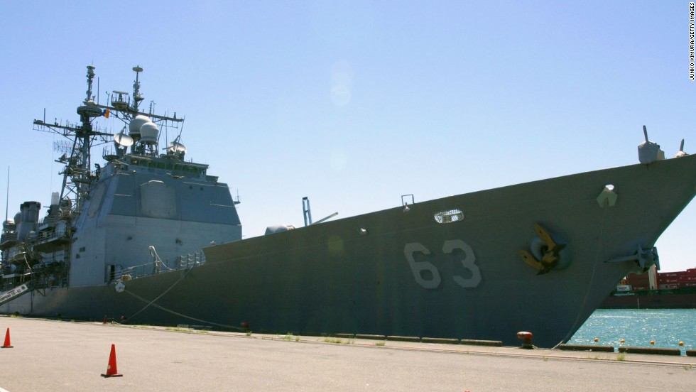 Also being sent to the typhoon-ravaged region is the USS Cowpens, a cruiser seen here in 2004.