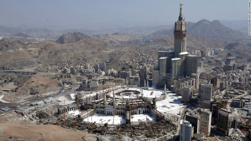 Completed in 2012 in Mecca, Saudi Arabia, Makkah Royal Clock Tower Hotel's architectural height is 1,972 feet (601 meters) and is occupied to a height of 1,833 feet (558.7 meters).