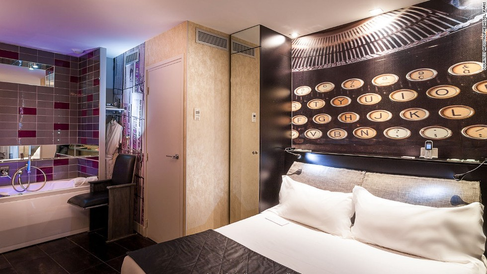 Following the concept of the hotel as a poem, each room is themed with a verse, starting from the ground floor and continuing upwards.