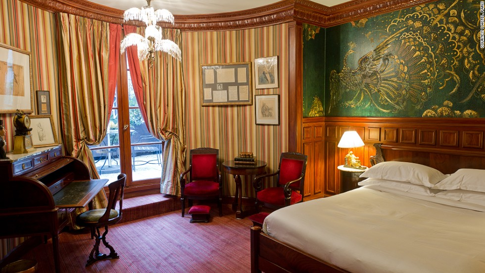 "The L'Hotel in Paris was made famous by Oscar Wilde, whose last words as he lay dying in the hotel were reportedly, ""Either that wallpaper goes, or I do."""