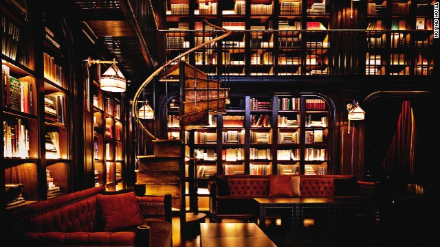 NoMad Hotel's brooding, but awesome, library.