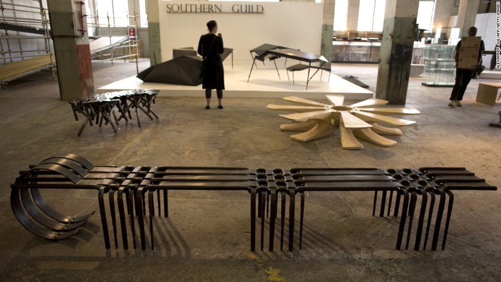 """The Johannesburg-based Museum of African Design opened its doors on October 24 showcasing the Southern Guild collection. Here, """"Woven Bench III'"""" by South African artist Conrad Hicks."""