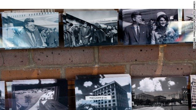 Postcards of historic moments in the last days of the JFK presidency are on sale  at the Sixth Floor Museum  in Dallas.