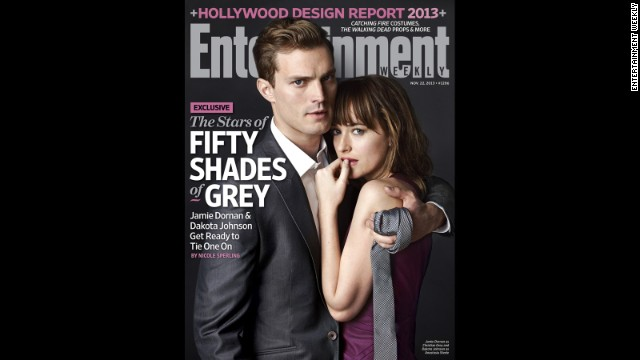 """Fifty Shades of Grey"" stars Jamie Dornan and Dakota Johnson are on the cover of the new issue of EW."