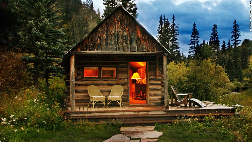 "The Rockies, a Colorado mining town, a mountain hideaway with log cabins and incredible views, <strong>The Dunton Hot Springs</strong> resort is a ""year-round alfresco spa haven"" thanks to its hot springs, and took the top spot for best outdoor setting."
