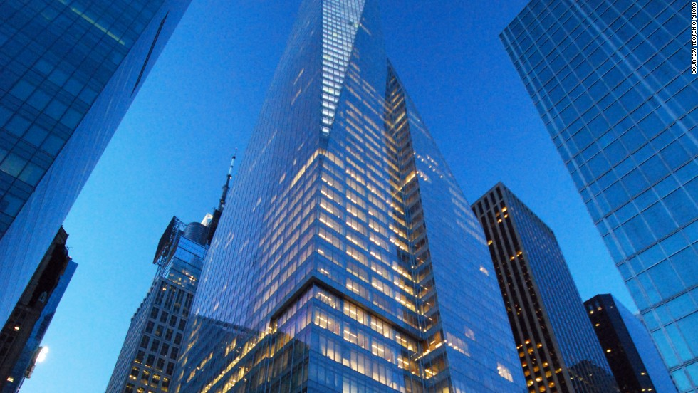 Architects: Cook + Fox Architects, LLP; Adamson Associates.<br />The Bank of America Tower is named after the largest bank in the U.S.A.<br />The skyscraper was officially the second-tallest building in New York until the topping-out of One World Trade Center in May 2013.