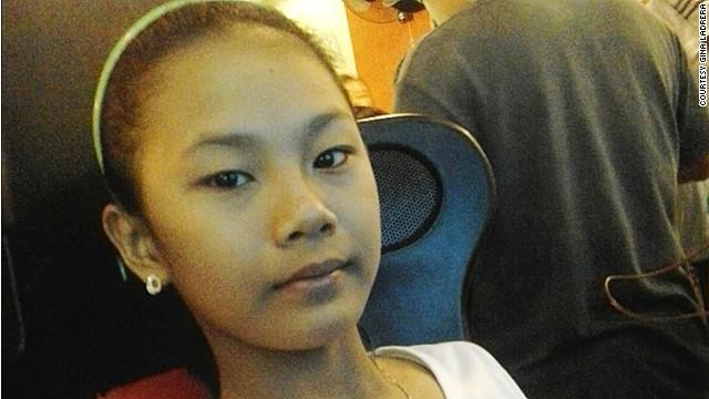 Gina Ladrera's daughter, Kyra Angela Ladrera, aged 10.
