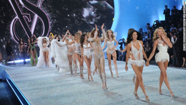 The 2013 Victoria's Secret Fashion Show models walk the runway