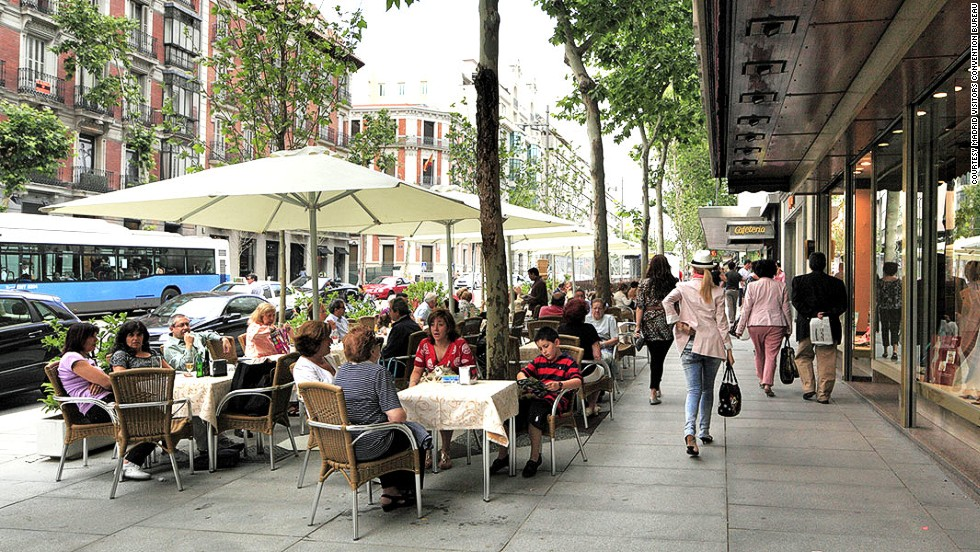 Madrid ranks third for best prices on luxury items in the Globe Shopper Index. We love it for the glorious sidewalks.