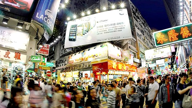 In Hong Kong, shopping doesn't really start until the evening.