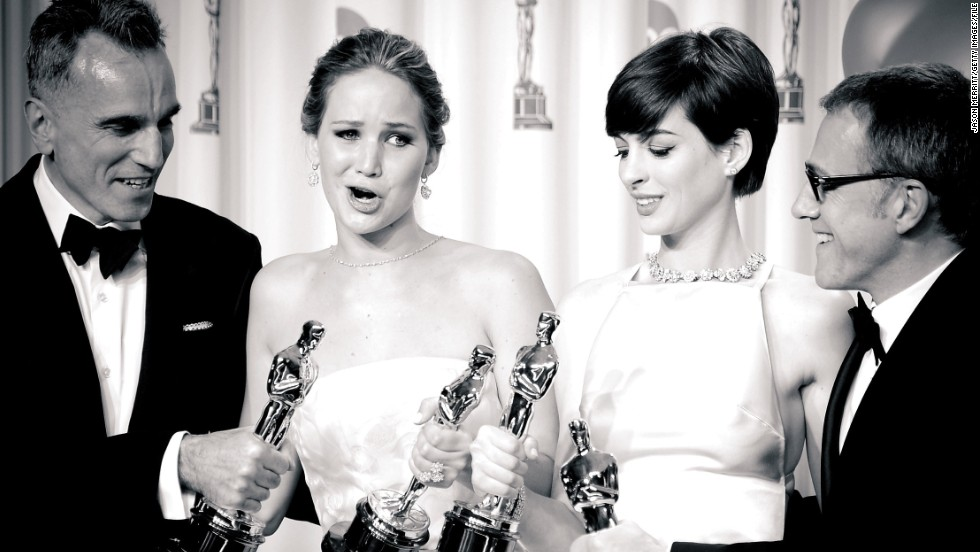 """<strong>On how to prepare for the Oscars: </strong>""""I did a shot before."""" -- <a href=""""http://marquee.blogs.cnn.com/2013/02/25/jennifer-lawrence-explains-her-oscars-fall/?iref=allsearch"""" target=""""_blank"""">February 2013</a>"""