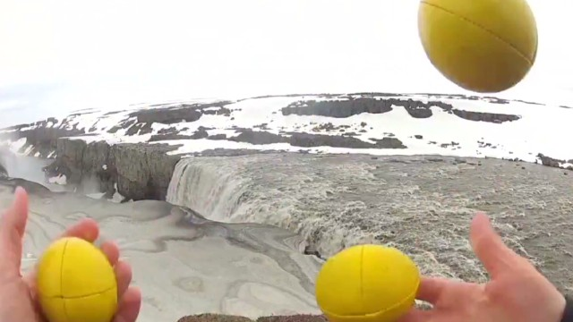 Watch him juggle around Iceland