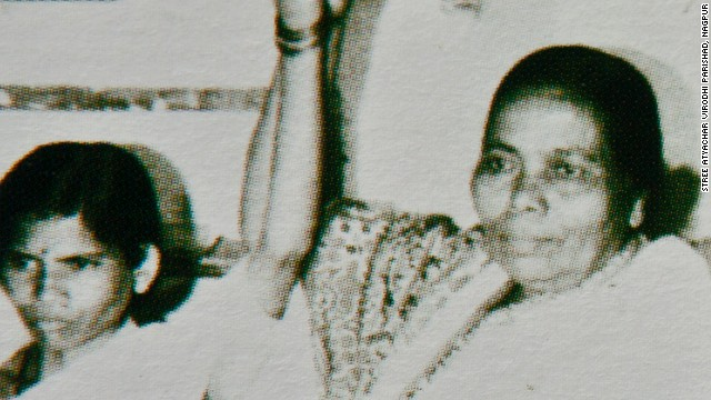 Activist Seema Sakhare (right) with Mathura, who says she was raped by two policemen in India in 1972. The photo was obtained from a booklet published by Sakhare's organization.
