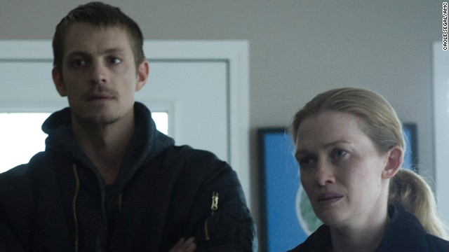 The Killing's Stephen Holder (Joel Kinnaman) and Sarah Linden (Mireille Enos)