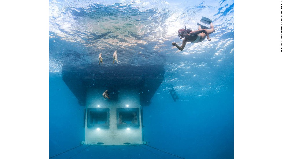 <strong>Swedish inspiration: </strong>The company behind this design also launched The Utter Room in 2000, another underwater room in the middle of a lake in Sweden.