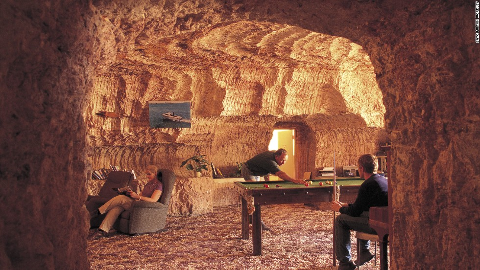 Most residents of this South Australian town live underground, to escape the blazing outback heat. There are subterranean shops, a hotel and a restaurant.
