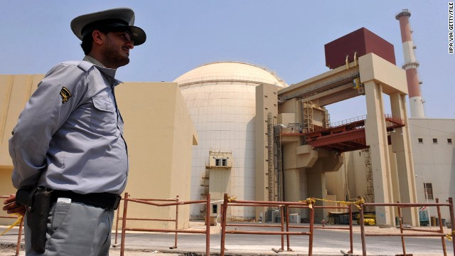 The reactor building at the Russian-built Bushehr nuclear power plant as the first fuel is loaded on August 21, 2010 in Bushehr, southern Iran.