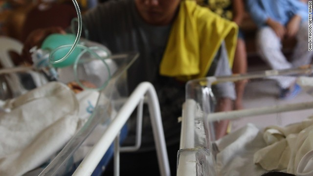 A chapel is converted into a neonatal unit in Tacloban Hospital on November 15, 2013 in Tacloban, Philippines.