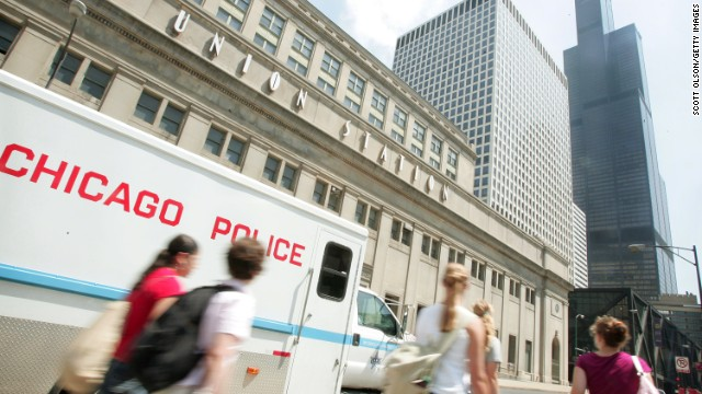 Chicago's Union Station, where a man with cerebral palsy was allegedly robbed while trapped with two men in an elevator.