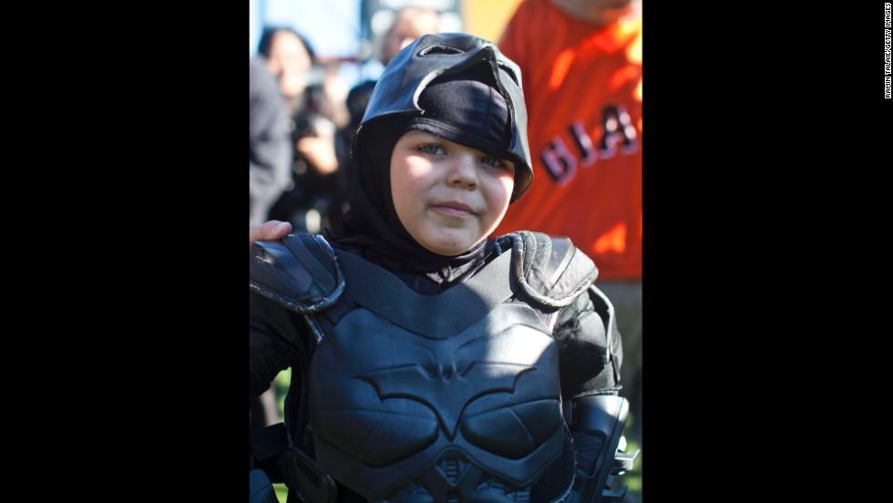 Miles Scott, 5, aka Batkid.