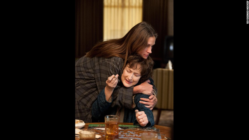 """One of the holiday films already getting awards season buzz is director John Wells' adaptation of Tracy Letts' stage production """"August: Osage County."""" Featuring a killer cast, including Meryl Streep, Julia Roberts, Benedict Cumberbatch, Dermot Mulroney and Margo Martindale, """"August: Osage County"""" is a dramatic comedy capturing the dysfunction of one Oklahoman family filled with strong-willed women. (Release date: Select cities December 27)"""