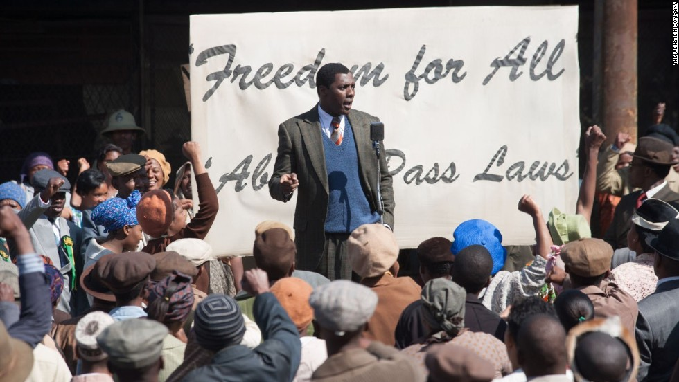 "Idris Elba has taken on a herculean task with his starring role in ""Mandela: Long Walk to Freedom."" The biopic retraces Nelson Mandela's rise from childhood to revolutionary leader. (Release date: December 25)"