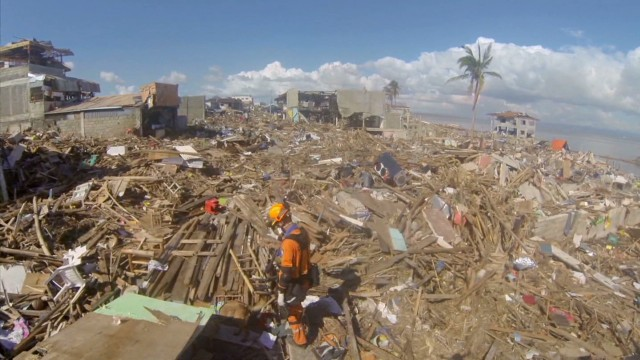 A bird's eye view of Haiyan devastation