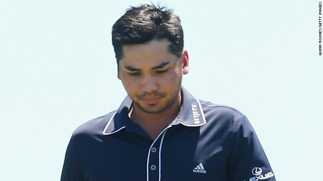 Australian Jason Day was out on the course at Royal Melbourne on Monday.