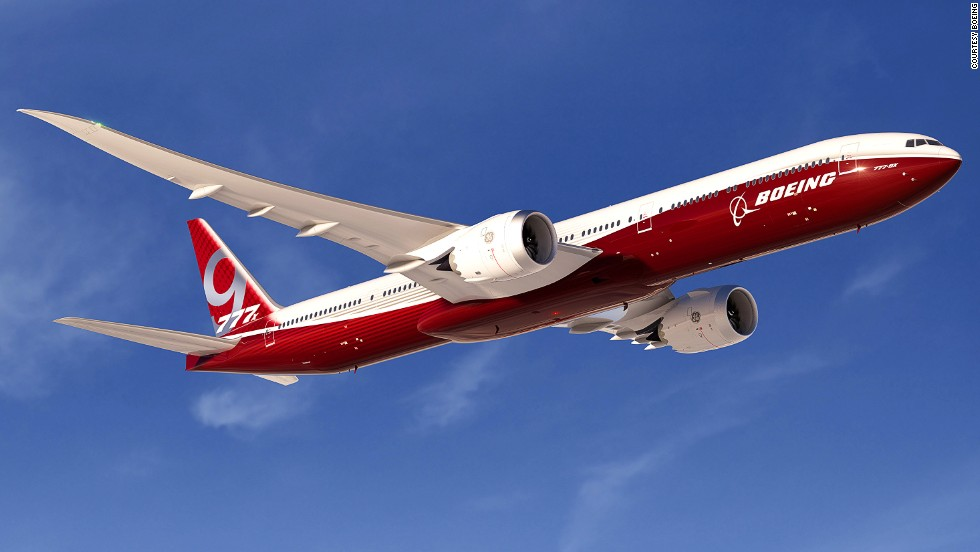 Boeing officially launched its 777X program in 2013 at the Dubai Air Show. The 9X version will have a range of over 14,075 kilometers (8,746 miles) and fit 400 passengers. Notable changes from the original 777 include a longer, composite wing and a new GE engine. Production is scheduled to begin in 2017 and first delivery is targeted for 2020.