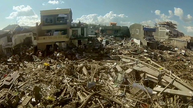 Bird's-eye view of Philippines aftermath